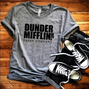 Dunder Mifflin TShirt Size Small Gray NEW NWT